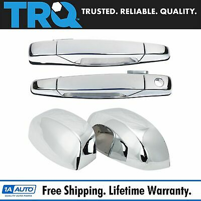 Chrome Outside Door Handles With Mirror Caps Trim Upgrade for Chevy GMC Pickup