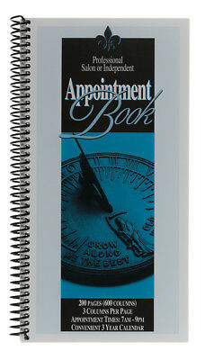 Salon Appointment Book 3 - COLUMN BOOK SPIRAL BOUND  200 PGS fun time products