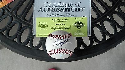 Autographs-original Signed Angels Braves Top Prospect Kyle Kubitza Sweetspot Baseball Proof Coa!!! Sports Mem, Cards & Fan Shop