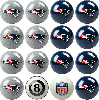 NFL Pool ball set - New England Patriots  Home and Away, FREE US SHIPPING