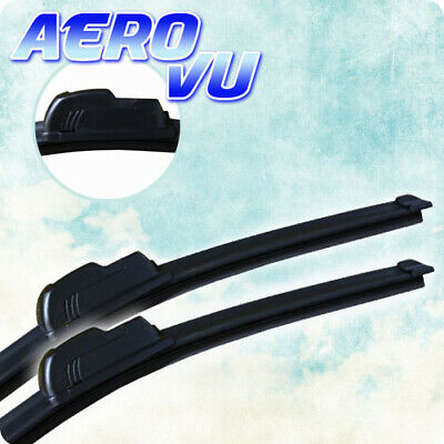 "Fit VW Polo 9N2 Mazda 3 Front Windscreen 21/"" 19/"" Flat Aero Wiper Blades Twin Set"