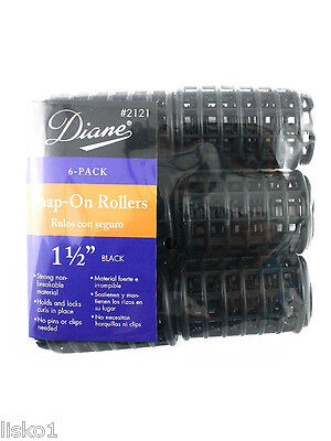 Diane Snap on Plastic Hair Rollers  ( 5 sizes to choose from )