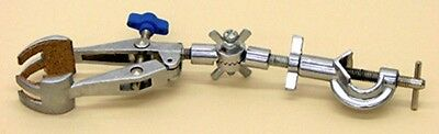 4-Finger Adjustable Clamp with Swivel Holder - Four Finger Lab Laboratory Supply