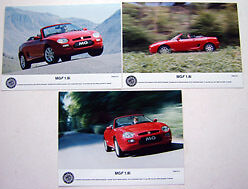 MGF 1.8i 1999 x 3  original colour Press Photos front & side views 514 515 517