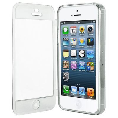 CLEAR FRONT AND BACK PROTECTION TPU GEL CASE COVER FOR APPLE iPhone 5 5S