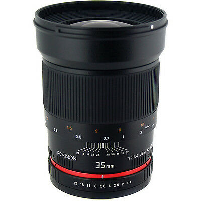 Rokinon 35mm f/1.4 Wide-Angle Lens (Canon, Nikon, Sony, Olympus, or Pentax)