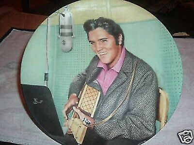 """Elvis Presley's """"A Studio Session"""" Collector's Plate (Plate#10021B)"""