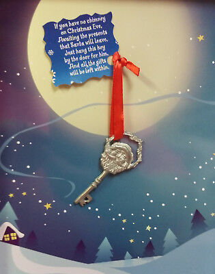 Santa Claus Key for him to get in if no chimney! Has Santa's face and heart