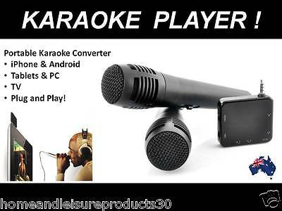 Portable Karaoke Player With 2 Microphones - For Phone, Tablet or TV!