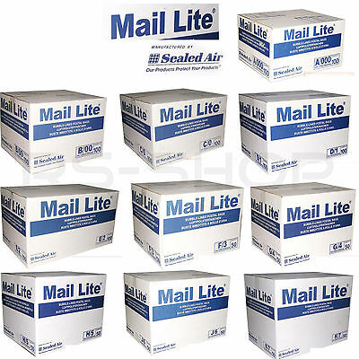 "Mail Lite White Padded Bags Envelopes "" All Sizes """