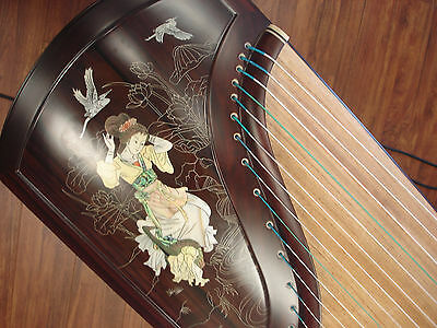 Tianyi Collection Zitan  Elite Guzheng Musical Instrument 天艺特制专业一级紫檀银丝彩贝演奏筝