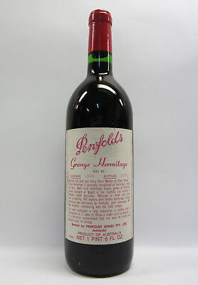 Penfolds Grange Shiraz 1969 Red Wine Clinic