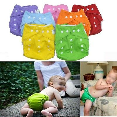 Reusable modern Baby Cloth Nappies Diapers Adjustable Bulk Waterproof Nappy New