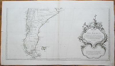 SCHRAEMBL/ANVILLE: Large 3 Sheet Map of South America - 1786