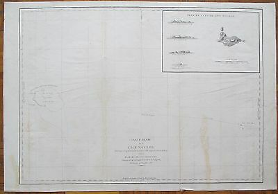 La Perouse: Large Important Map Isle Necker Hawaii - 1797