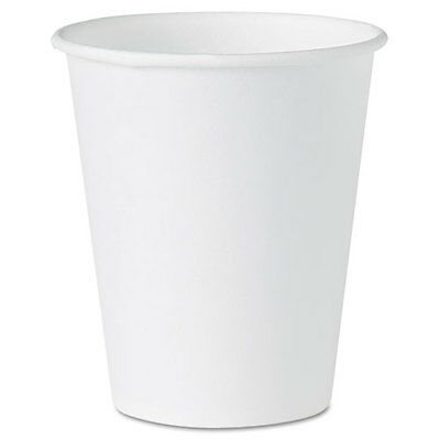 SOLO Cup Company White Paper Water Cups, 4 oz., White, 100/Pack, PK - SLO404