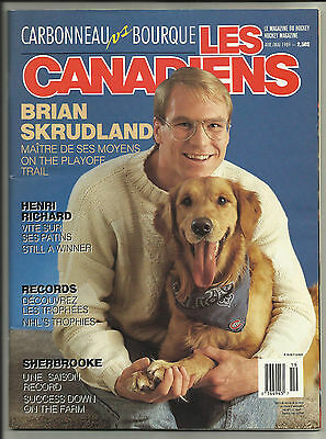 1988-89 MONTREAL CANADIENS STANLEY CUP FINALS PROGRAM vs CALGARY FLAMES - GAME 4