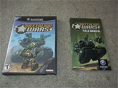 ***BATTALION WARS NINTENDO GAMECUBE REPLACEMENT CASE AND MANUAL***