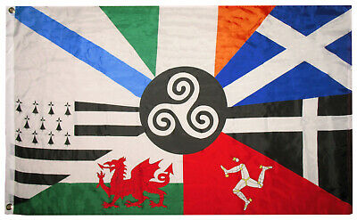3x5 European Celtic Nations Flag 3 by 5 Foot Ireland Scotland Wales Brittany