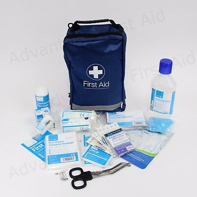 BS8599-1 Compliant First Aid Kit in Bag- Lone Worker 250ml Eyewash BS8599 Travel