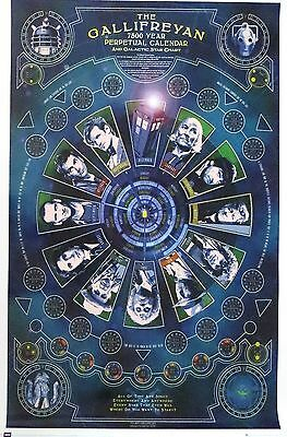 DOCTOR WHO-Gallifreyan Calendar-Licensed POSTER-90cm x 60cm-Brand New-Dr