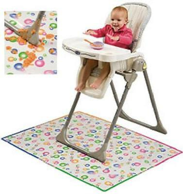 Mommy's Helper Splat Mat Baby High Chair Mess Floor Protector - CLEAR w/ Design