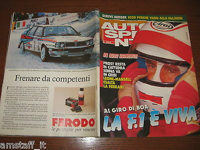 Autosprint 1989/29=Gp F.1 Inghilterra=Prost=Mansell=Peugeot 309=Didier Auriol=