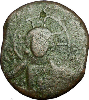 JESUS CHRIST Class A2 Anonymous Ancient 1028AD Byzantine Follis Coin  i34675