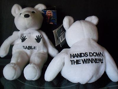 1999 WWF Attitude Bear NWT Sable