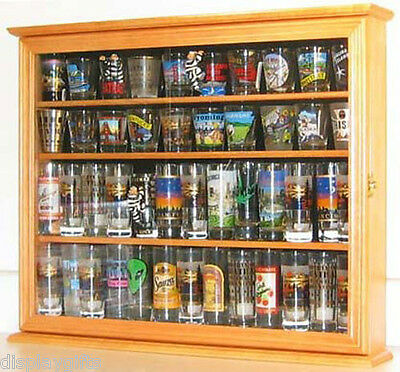Shooter Shot Glass Display Case Cabinet with glass door, SC04B-OA