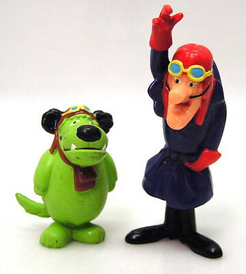 Vintage 1990s Dick Dastardly & Muttley  PVC Figure Set of 2 from UK (PVC-005-FW)