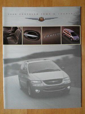 CHRYSLER Town & Country 2000 Canadian Mkt sales brochure