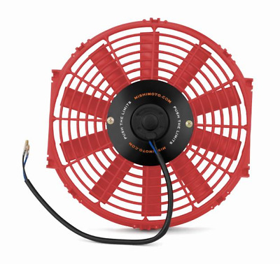 "Mishimoto 12"" Slim Line Electric 12v Fan - Red"