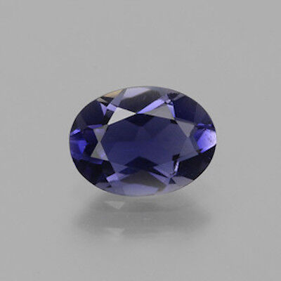 AAA Rated Oval Bright Purple Blue Genuine (Natural) Iolite (4x3-9x7mm)
