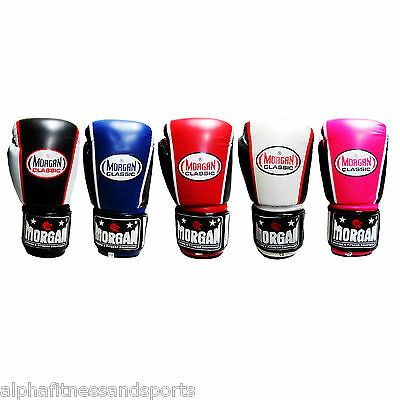 Morgan Classic Boxing Gloves MMA Training Mitts Punch Sparring Gym ANBF APPROVED