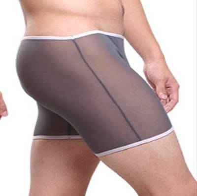 Boxer taille XL gris transparent sheer Ref S16 Uzhot by neofan homme sexy gay
