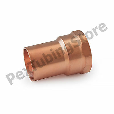 "3/4"" C x 3/4"" Female NPT Threaded Copper Adapter"