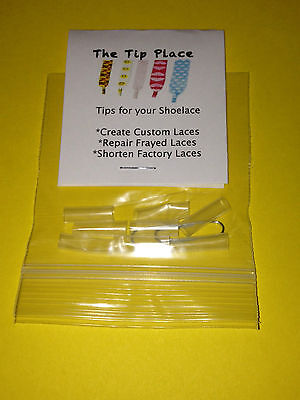 Shoelace Ends PLASTIC TIPS FOR SHOELACES - AGLETS TO REPLACE REPAIR SHOE LACES