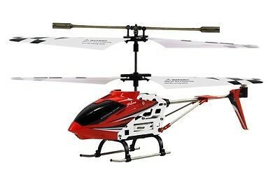 "Radio Remote Control 8"" Mini 3 Channel Metal 410 RC Helicopter Gyro - Red S107N"