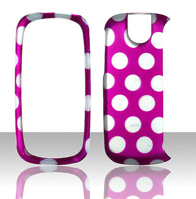 Dots on Pink Pantech Impact P7000 AT&T Case Cover Hard Phone Snap on Cases