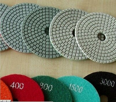"6"" Inch DIAMOND POLISHING PAD 12 Pieces Granite Concrete Marble Stone Travertine"