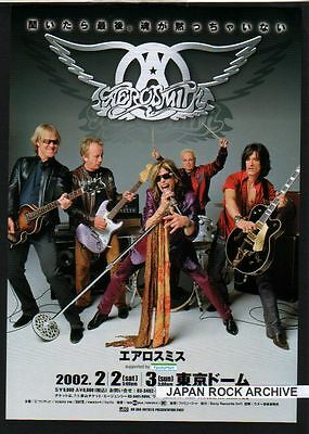 2002 Aerosmith JAPAN Tour Concert Flyer mini poster / Japanese / photo