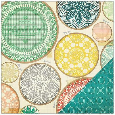 Crate Paper 12x12 Scrapbooking Paper ~ Family