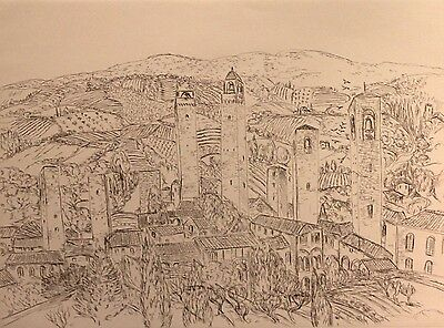 """SALVATORE ZOFREA """"Untitled 4"""" Limited Edition Etching, P/P"""