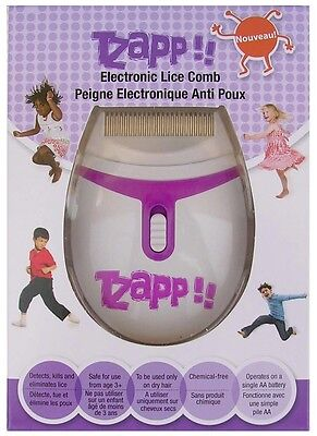 Tzapp Electronic Metal Lice Comb Hair Louse Nit Zapper Detection & Removal