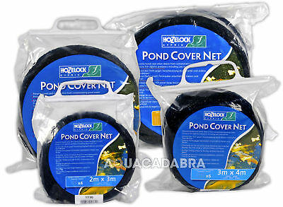 Hozelock Black  Pond Cover Net 2M X 3M 4M 6M 10M Garden Fish Pond Pegs Leaves