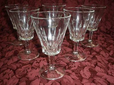 Stunning   Crystal Stemmed Wine  Glasses X 6