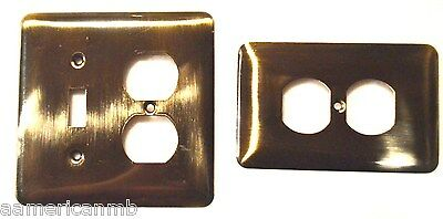 Brainerd Metal Wall Plate Single Switch Duplex Outlet Cover Antique Brass