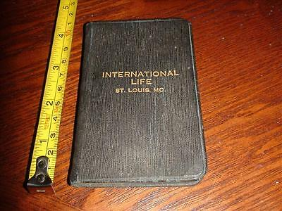 BR254 Vintage 1924 International Life Insurance St.Louis MO Calendar Memo Book