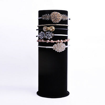 Top Luxury Black Velvet Big T-Bar Jewelry head band Display Stand Organizer P91